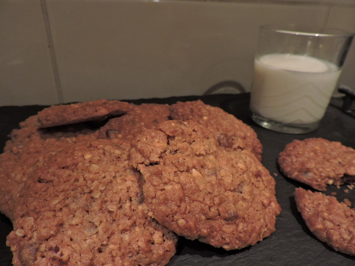 Peanut Butter, Chocolate Chip and OatCookies